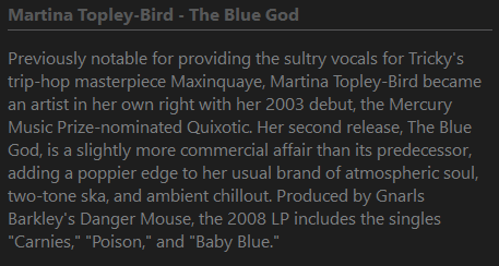 Screenshot of a `AllMusic Reviews` script